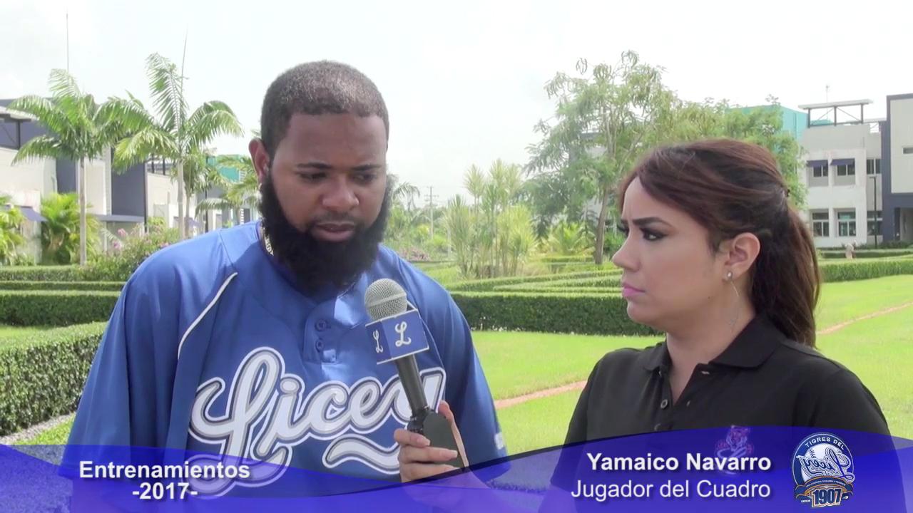 Yamaico Navarro quiere jugar desde el primer día y toda la temporada