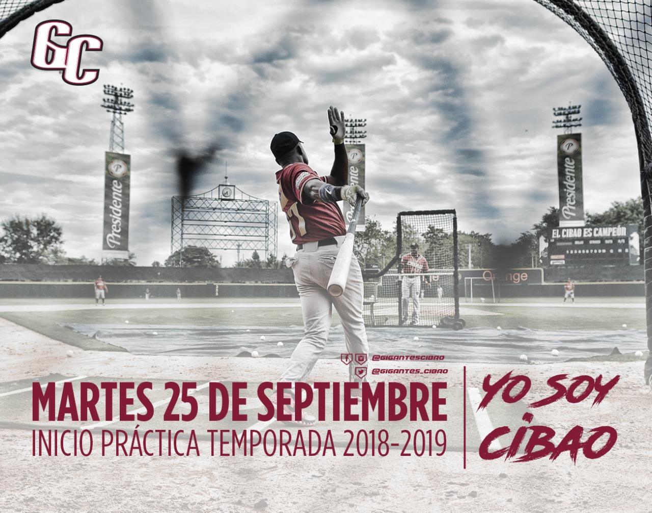 Gigantes del Cibao iniciarán entrenamientos el martes 25 de septiembre
