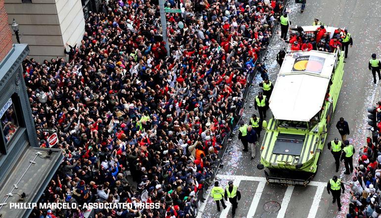 Boston festejó otro título de los Medias Rojas con un desfile en las calles de la ciudad
