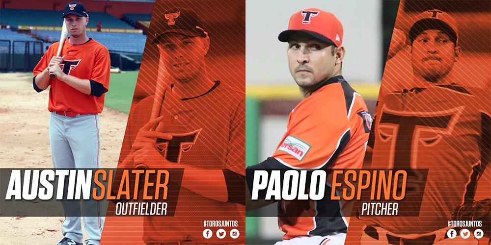Toros anuncian a Austin Slater y Paolo Espino como refuerzos